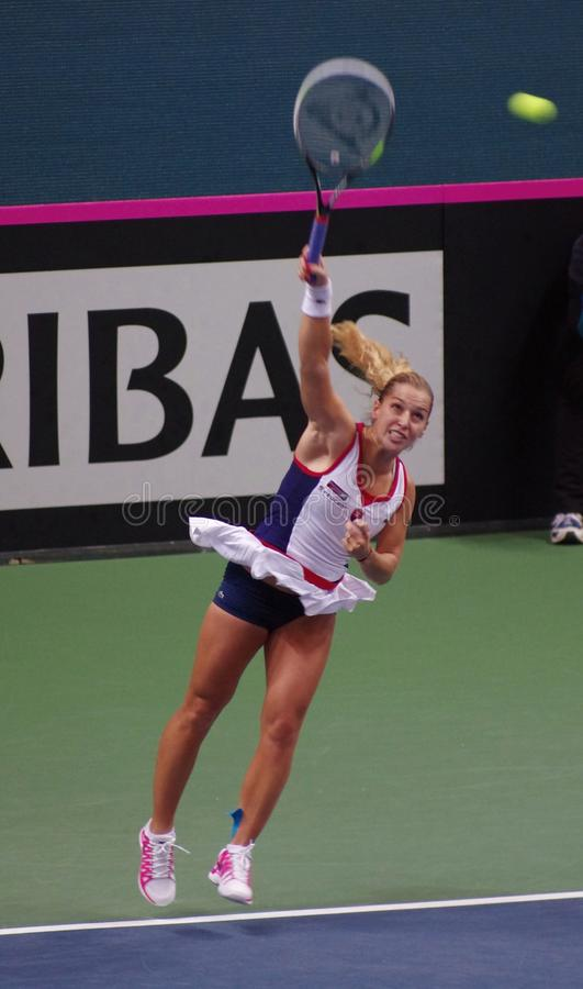 Dominika Cibulkova充当协会杯比赛,斯洛伐克 免版税库存图片