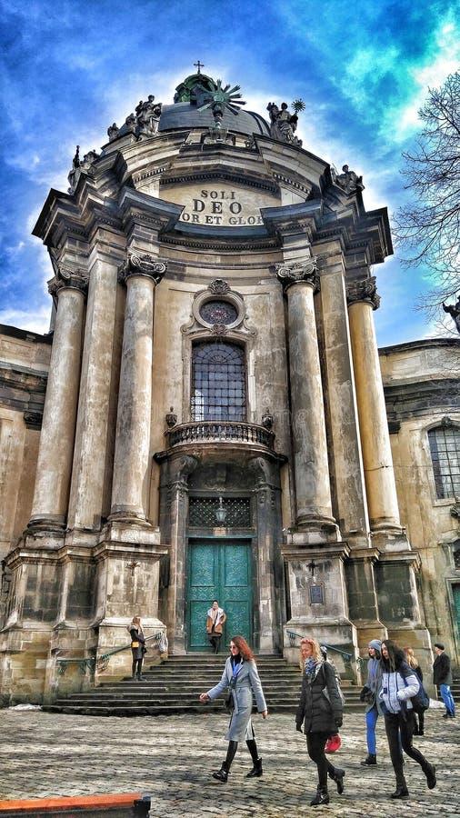 Dominikanische Kathedrale lizenzfreies stockbild