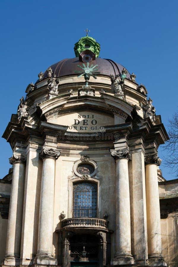 Dominikanische Kathedrale in Lviv lizenzfreie stockfotos