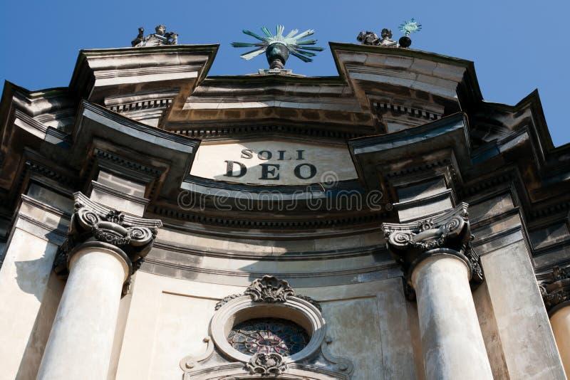 Dominikanische Kathedrale in Lviv stockfotos
