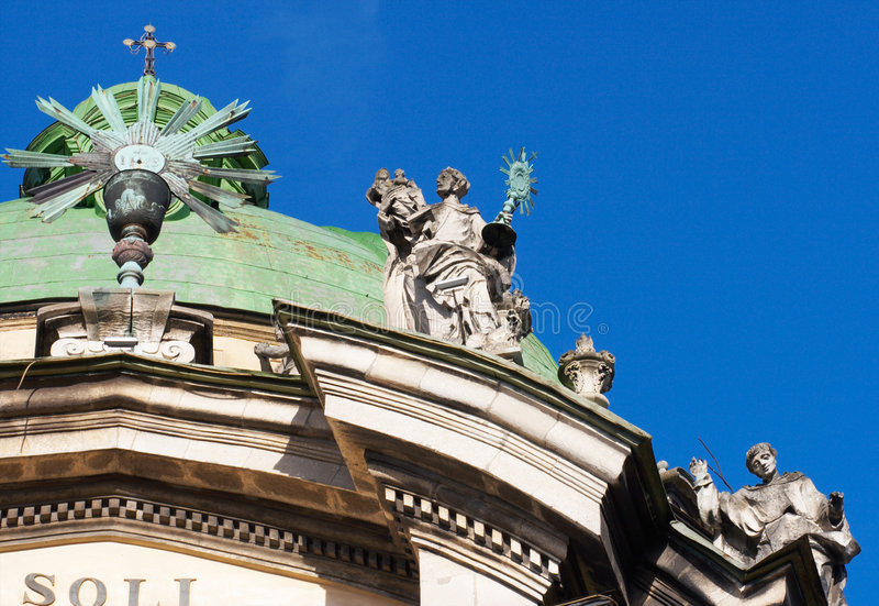 Dominikanische Kathedrale in Lviv lizenzfreie stockfotografie