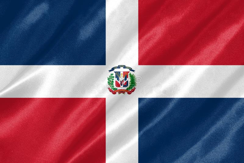 Dominikanische Republik-Markierungsfahne stock abbildung
