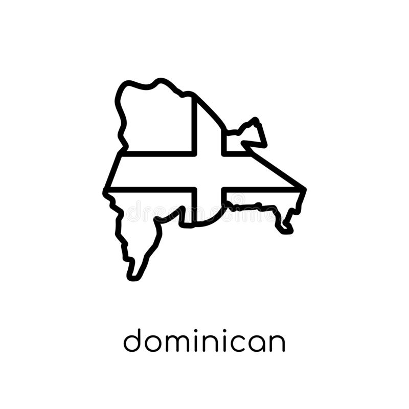 Dominikanische Republik-Markierungsfahnen-Ikone  stock abbildung