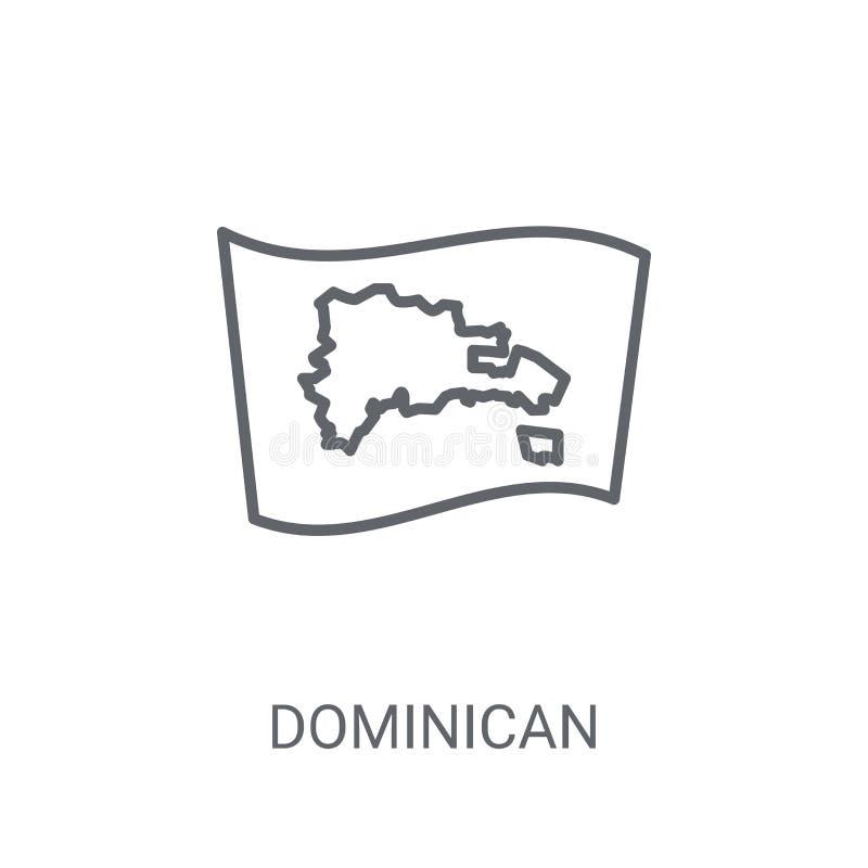 Dominikanische Republik-Markierungsfahnen-Ikone Modischer Flaggenklotz der Dominikanischen Republik lizenzfreie abbildung