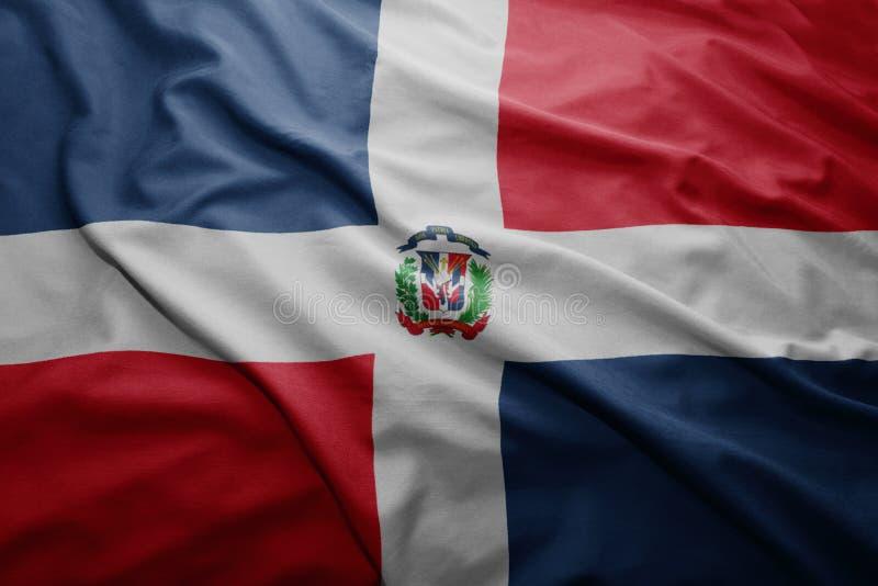 dominikansk flaggarepublik fotografering för bildbyråer