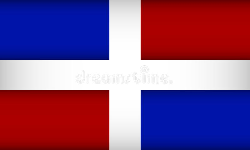 dominikansk flaggarepublik vektor illustrationer