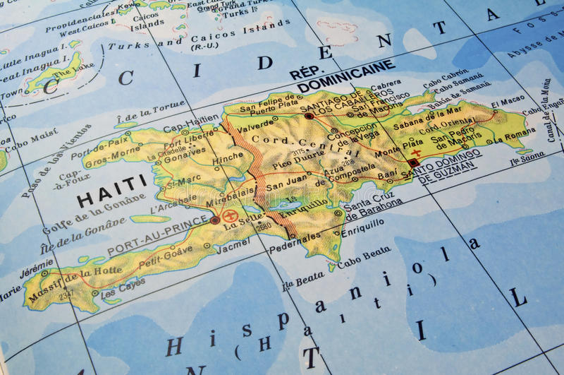 dominikansk haiti översiktsrepublik royaltyfri fotografi