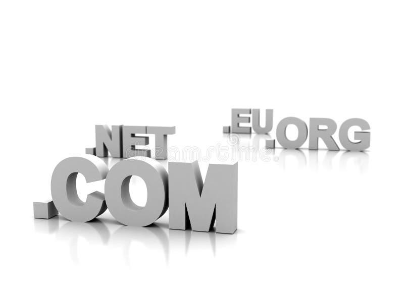 Dominio - concepto del Internet stock de ilustración