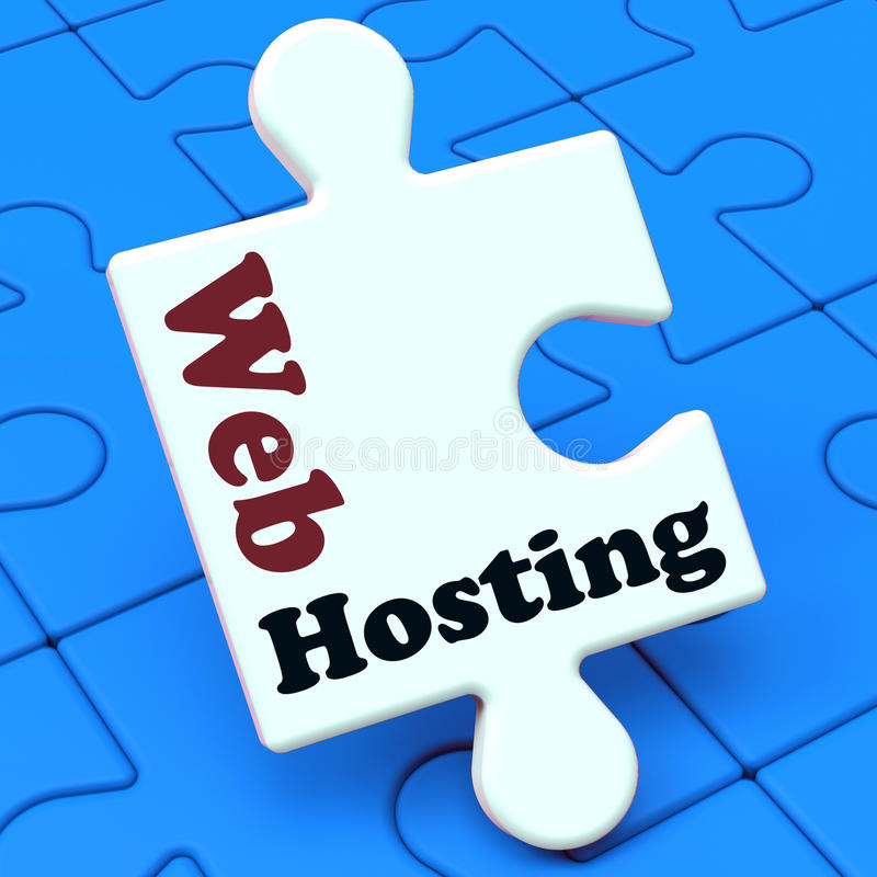 Dominio del Web site de las demostraciones del web hosting stock de ilustración