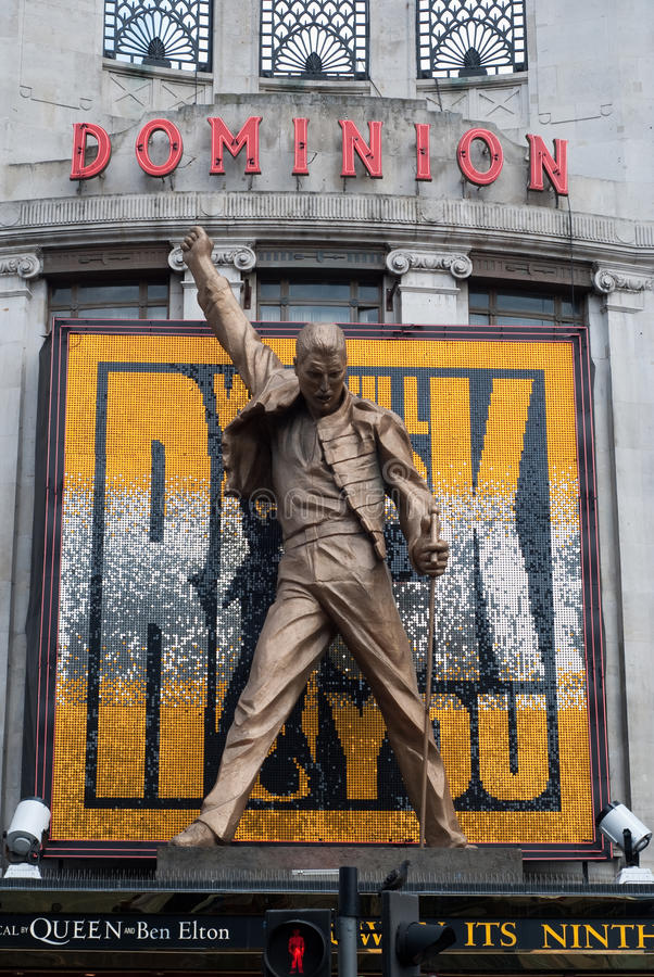 Download Dominion Theatre Freddie Mercury Queen Statue Editorial Stock Image - Image: 14418704