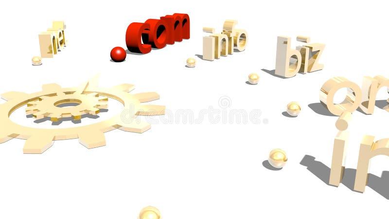 Dominios stock de ilustración