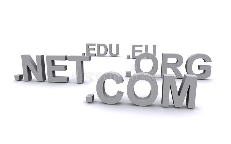 Dominios del URL ilustración del vector