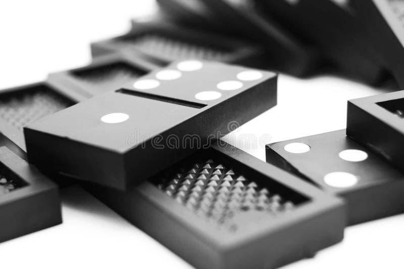 Domino。 在空白背景。 库存照片