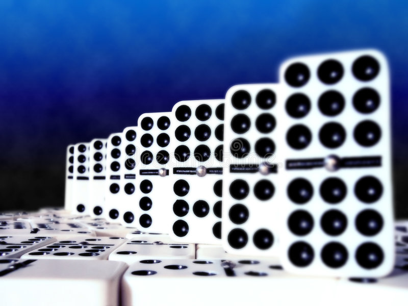 Domino加倍九 图库摄影
