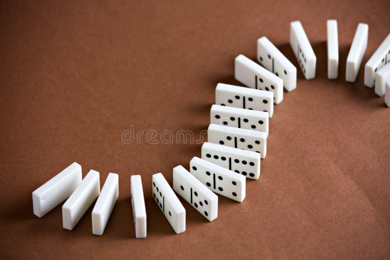Domino招待比赛作用 免版税库存图片