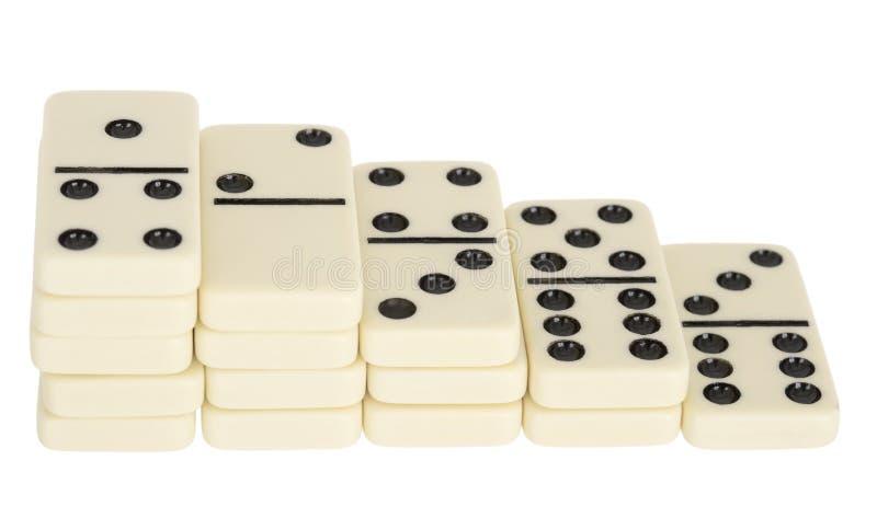 Domino步骤 图库摄影