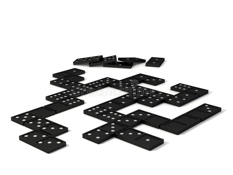 Domino比赛s 库存图片
