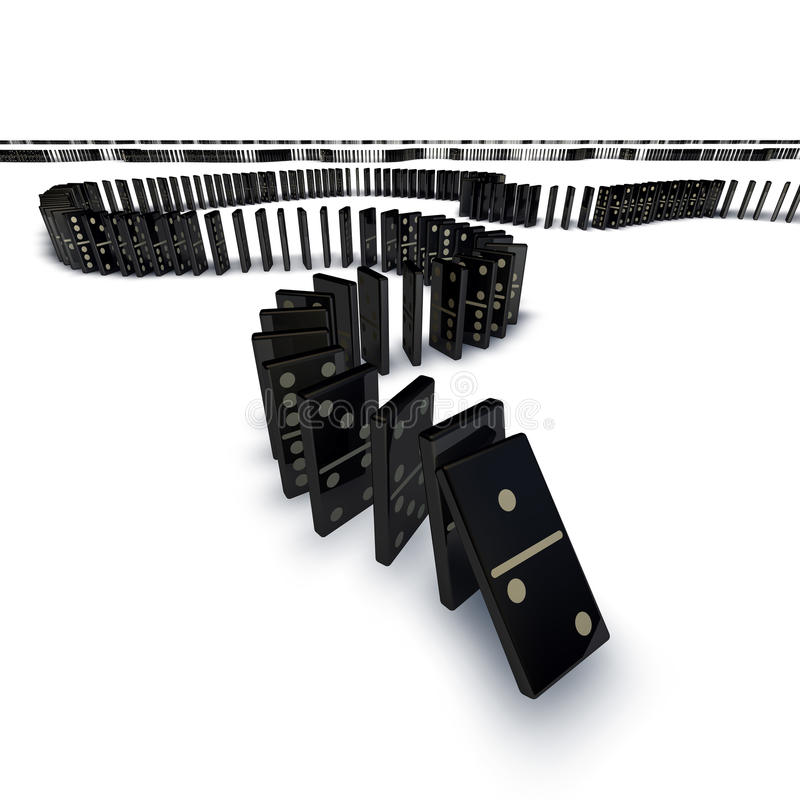 Domino落的线路 皇族释放例证