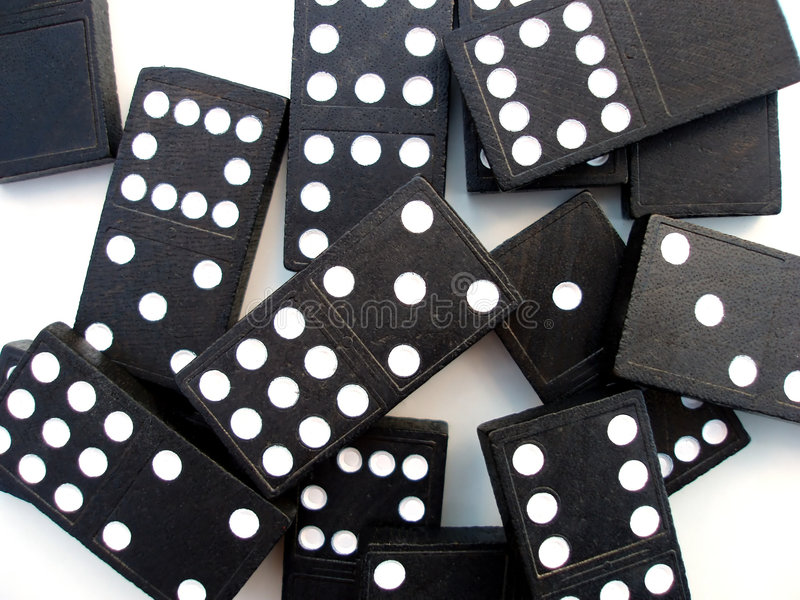 Domino部分 库存照片