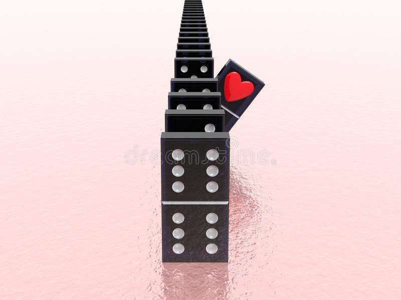 Domino重点 库存例证