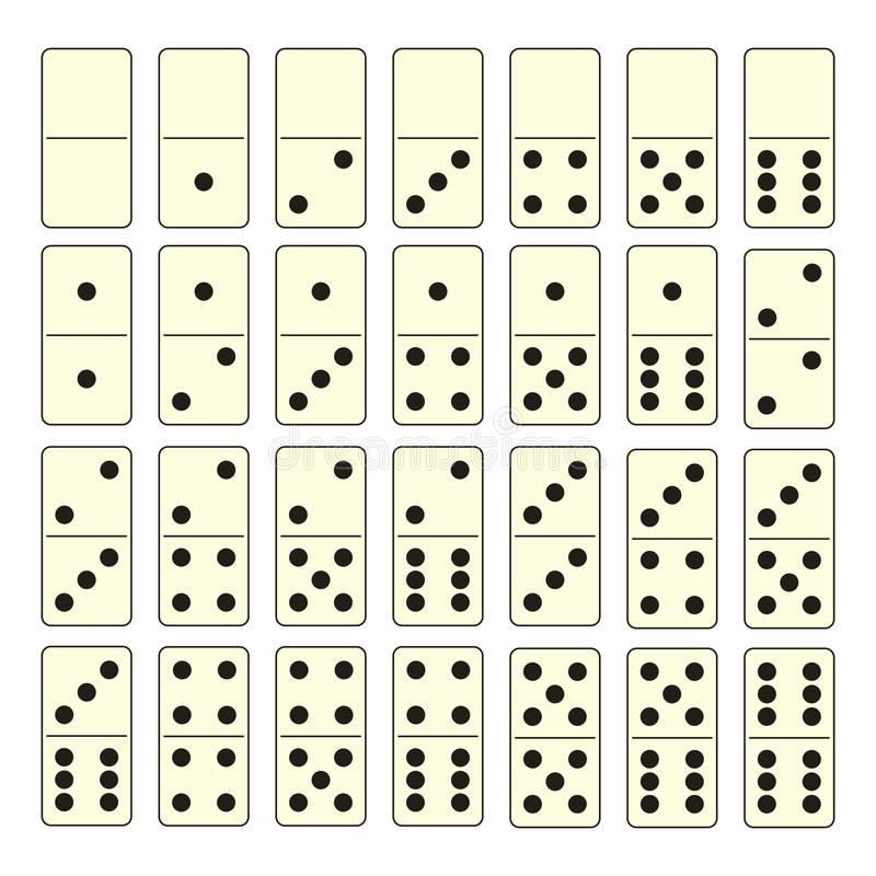 Domino集 向量例证