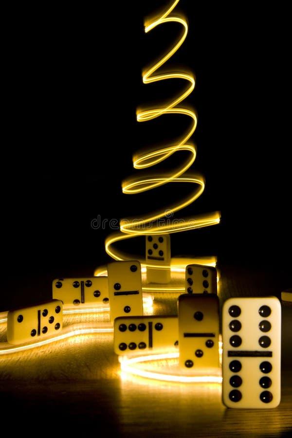 Domino魔术s 免版税库存照片
