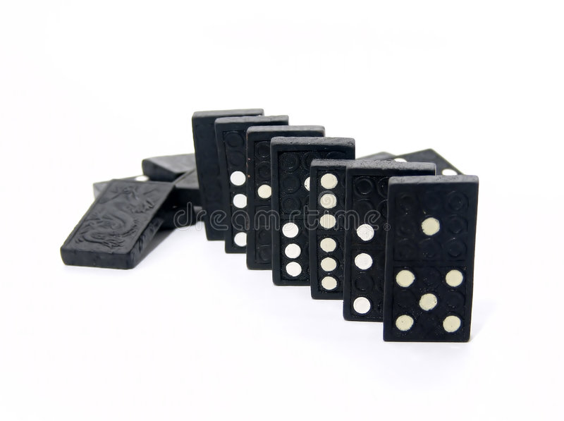 domino royaltyfria foton
