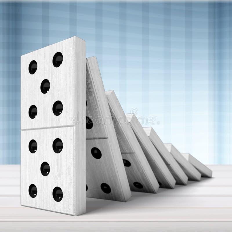 Domino illustration de vecteur