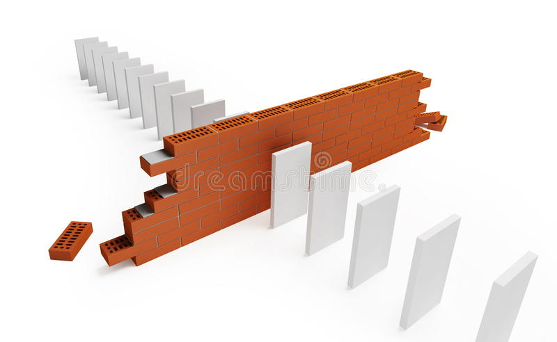 Download Domino stock illustration. Illustration of games, motion - 11831803
