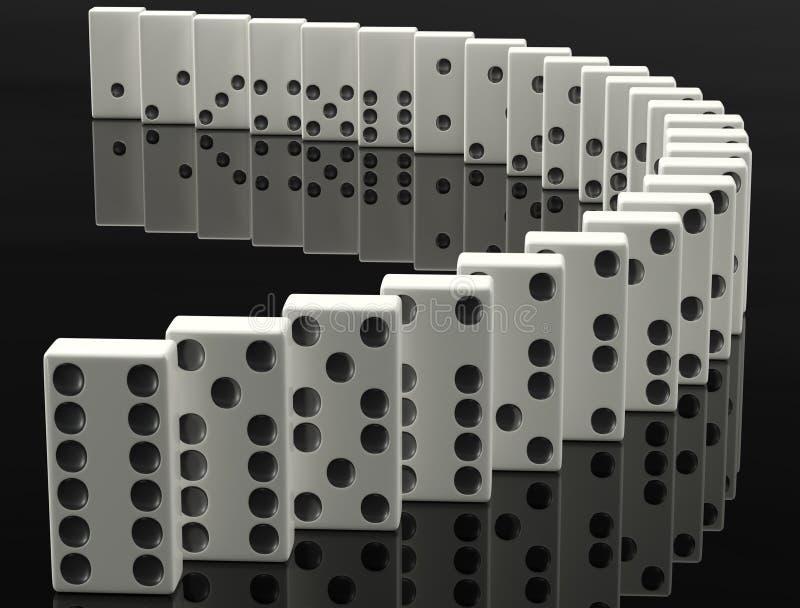 Download Domino stock illustration. Illustration of leadership - 20136825