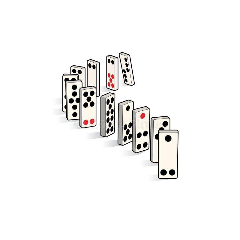 domino stock illustrationer