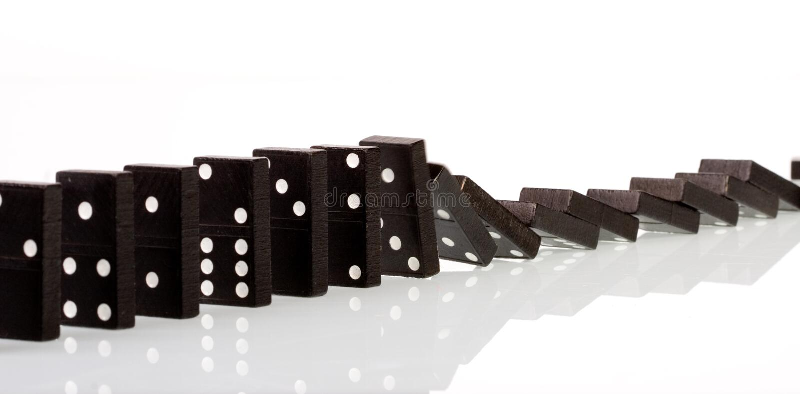 Domino 3 stock image