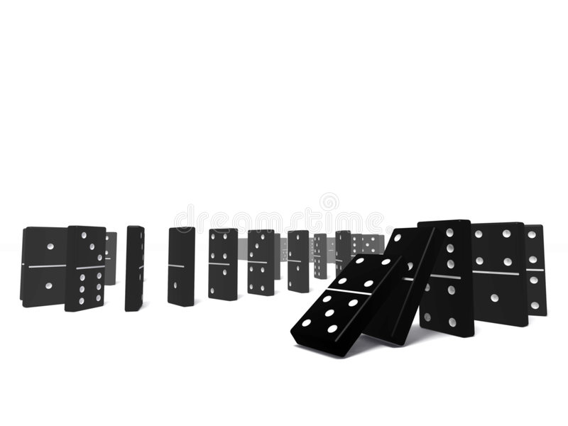 domino zdjęcie stock