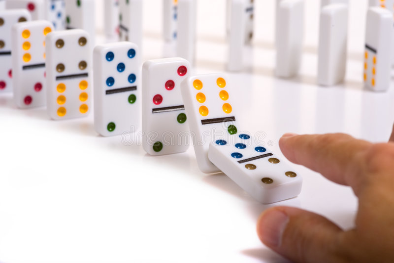 domino arkivfoton