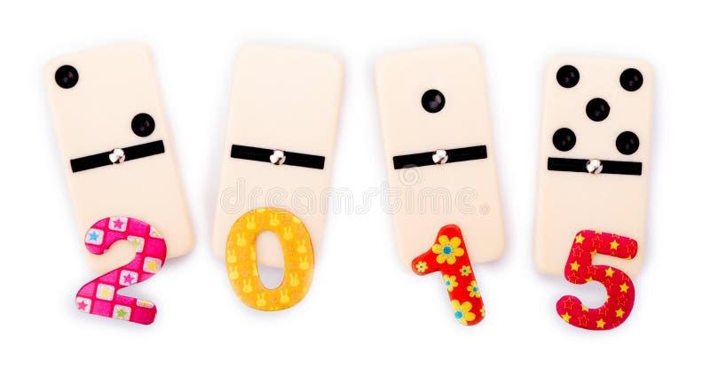 Domino 2015 avec des nombres photos stock