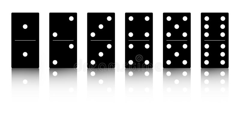 Download Domino black set stock vector. Illustration of background - 22386417