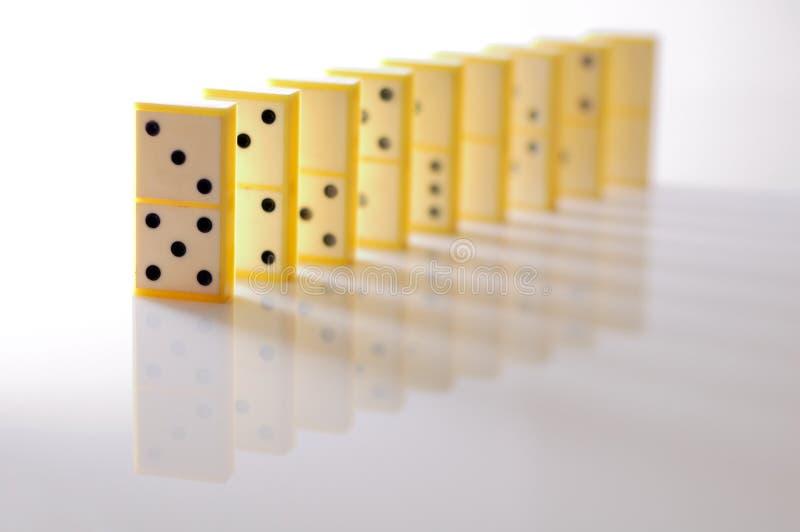 Domino blocks stock image
