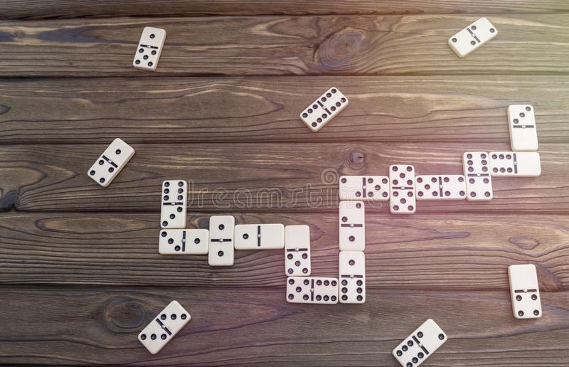 Domino board game stock images