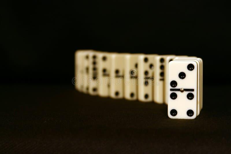 Domino dalla parte anteriore fotografia stock libera da diritti