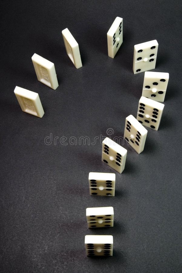 Domino de question images libres de droits