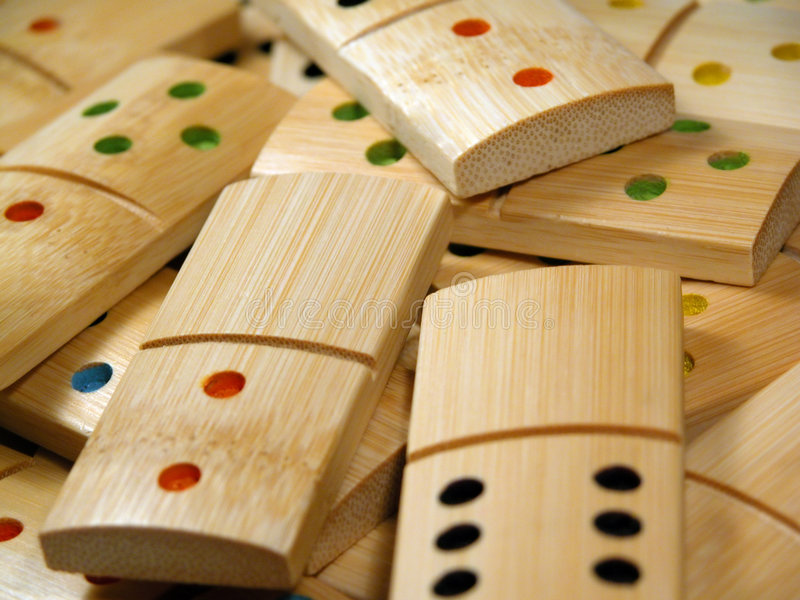 Domino di legno fotografia stock libera da diritti