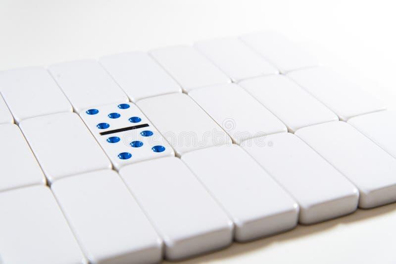 Domino - doppio 5 cinque fotografia stock libera da diritti