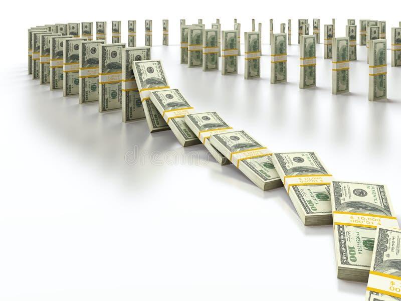 Domino du dollar illustration libre de droits