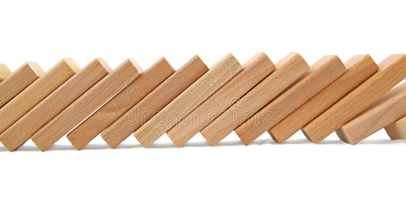 Download Domino effect stock photo. Image of fall, stand, pattern - 13407406
