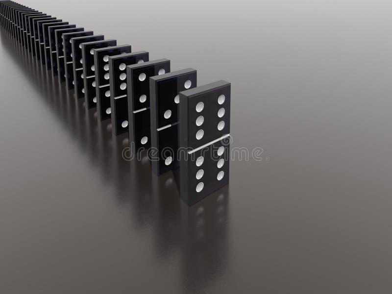Domino effect royalty free illustration