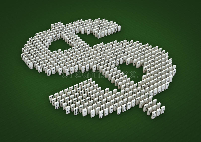 Download Domino effect stock illustration. Image of economic, domino - 21483301