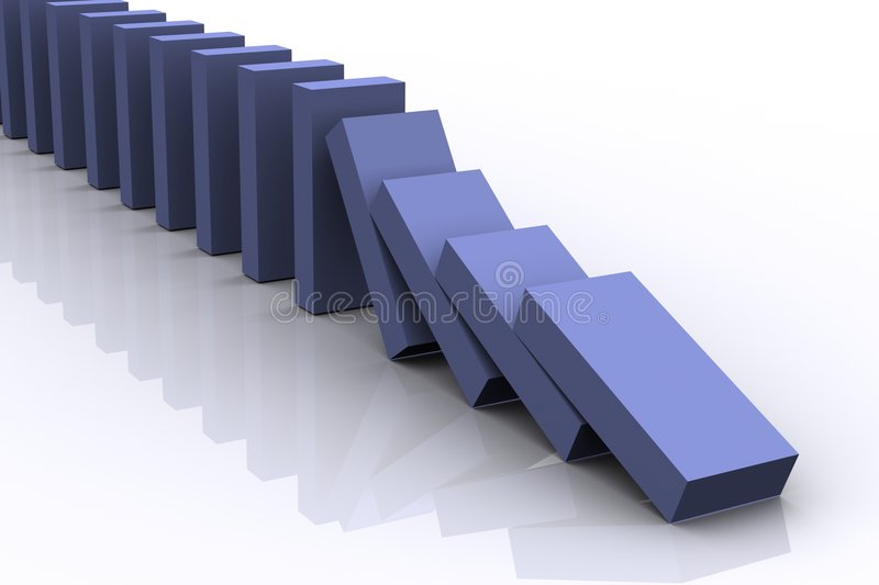 Download Domino Effect stock photo. Image of reaction, effect, rectangular - 2224434
