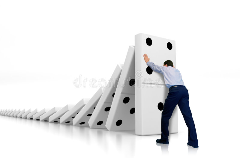 Domino effect royalty free illustration