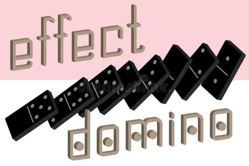 Domino-Effekt-Plakat Realistischer Dominoganzer satz 28 Stücke für Spiel Schwarze Sammlung Grafikelement des abstrakten Begriffs vektor abbildung
