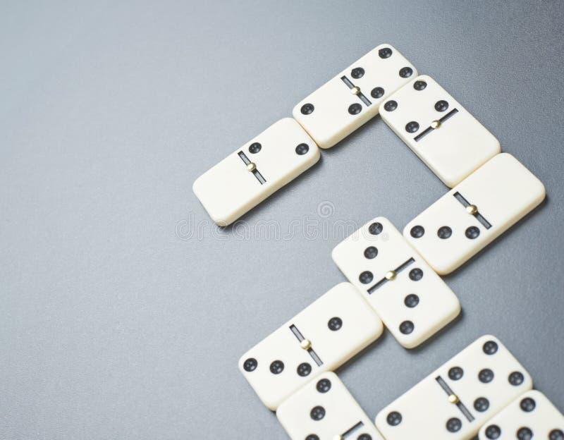 Domino entbeint Zusammensetzung stockfotografie